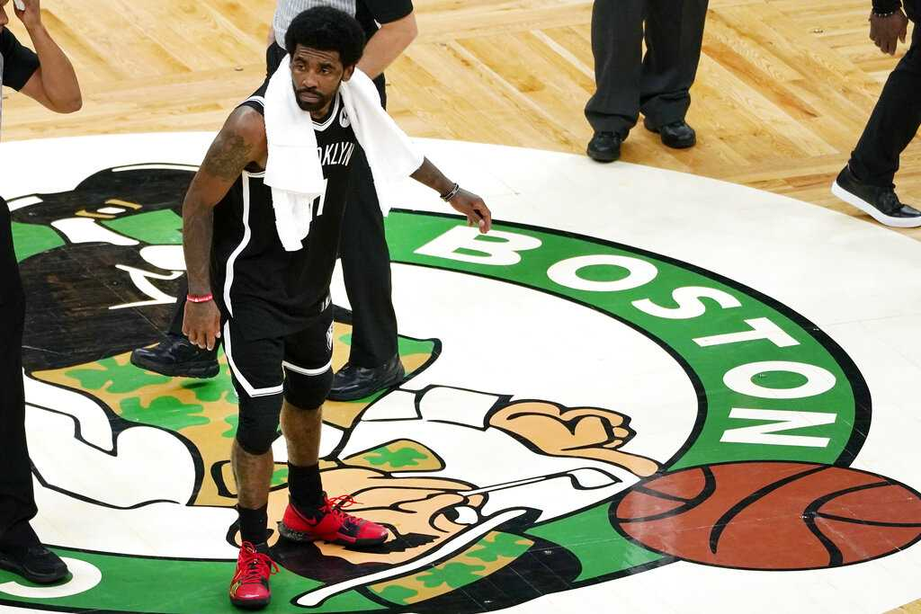 Boston Celtics fan captured after purportedly tossing water bottle at Kyrie Irving