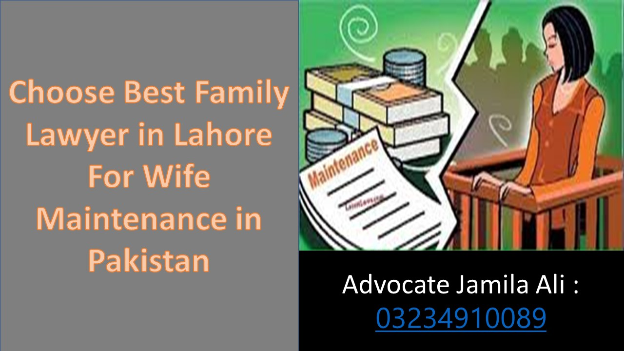 Seek Complete Guidelines For Opinion of Maintenance of Wife through Lawyers in Pakistan